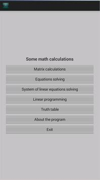 Mathematical calculations poster