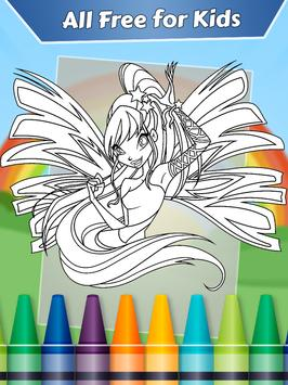 Coloring Game For Winx Club Apk Screenshot