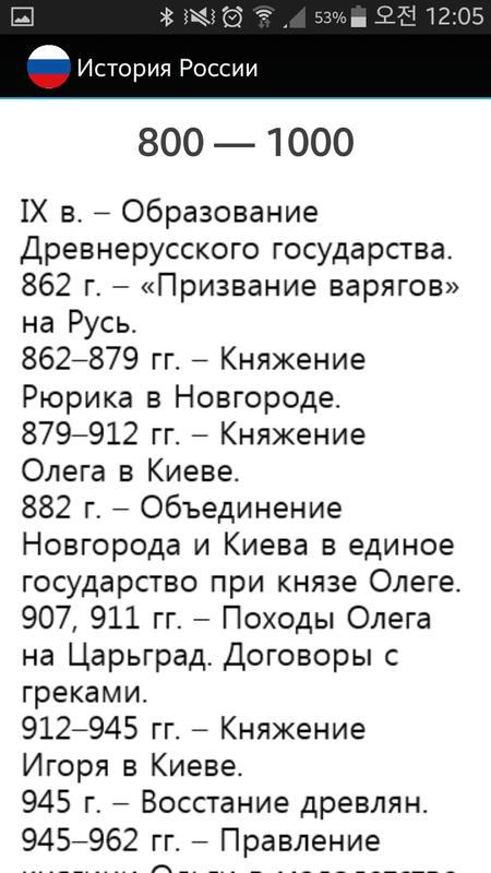 России даты история шпаргалки