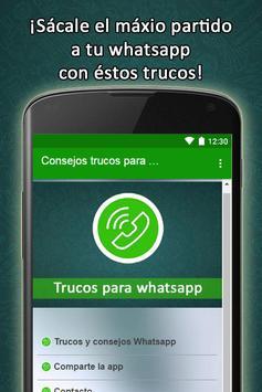 Consejos trucos para Whatsapp poster