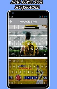 keyboard theme for James Rodríguez poster