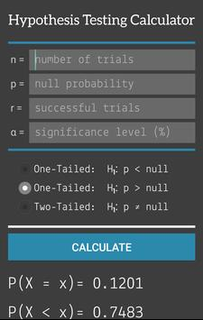 Hypothesis Testing Calculator screenshot 1