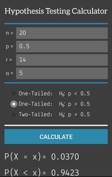 Hypothesis Testing Calculator screenshot 2