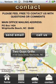 Two Guys Grille apk screenshot