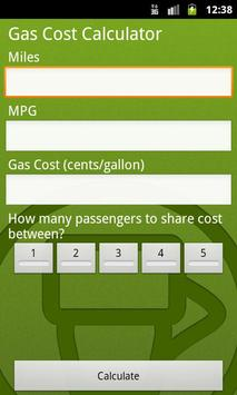 Gas/Petrol Price Calculator poster