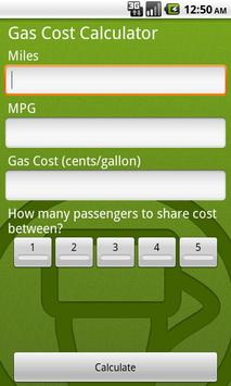 Gas/Petrol Price Calculator screenshot 1