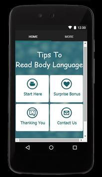 Tips To Read Body Language poster
