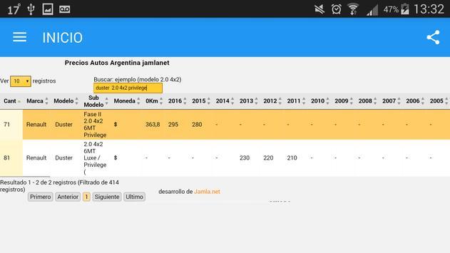 Precios autos Argentina apk screenshot