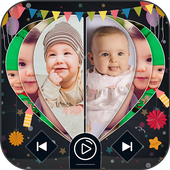 Cute Baby Image To Video Slide Show icon
