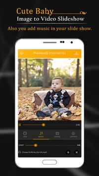 Cute Baby Image To Video Slide Show screenshot 2