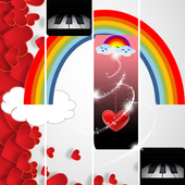 Rainbow Heart Piano Tiles icon