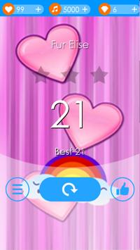 Rainbow Heart Piano Tiles screenshot 6