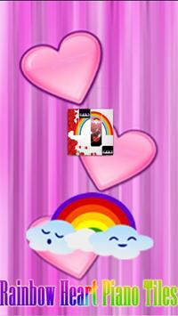 Rainbow Heart Piano Tiles poster