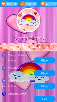 Rainbow Heart Piano Tiles screenshot 2