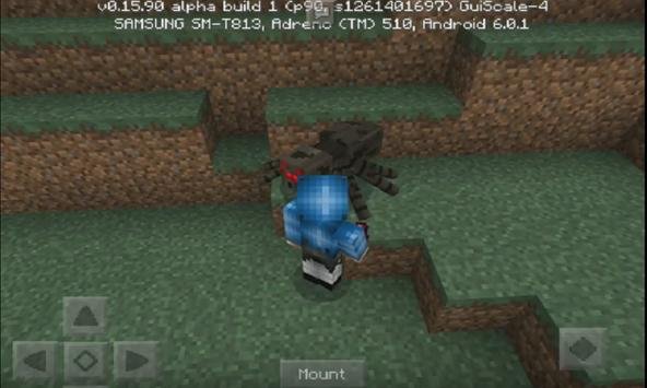MountableSpider Addon For MCPE apk screenshot