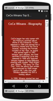 CeCe Winans Top Songs & Hits Lyrics. screenshot 1