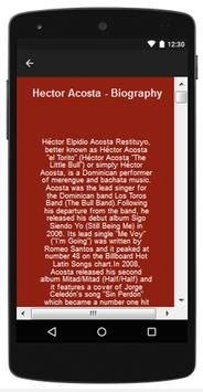 Hector Acosta Top Songs & Hits Lyrics  for Android - APK
