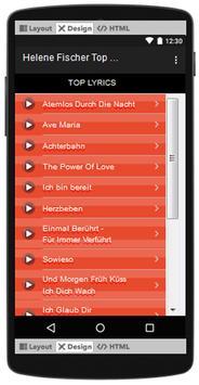 Helene Fischer Top Songs & Hits Lyrics. screenshot 2