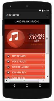 Jim Reeves Top Songs & Hits Lyrics. poster
