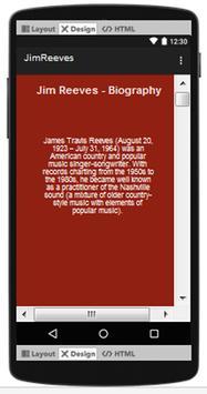 Jim Reeves Top Songs & Hits Lyrics. screenshot 1