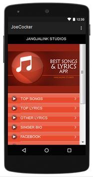 Joe Cocker Top Songs & Hits Lyrics. poster