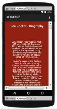Joe Cocker Top Songs & Hits Lyrics. screenshot 2
