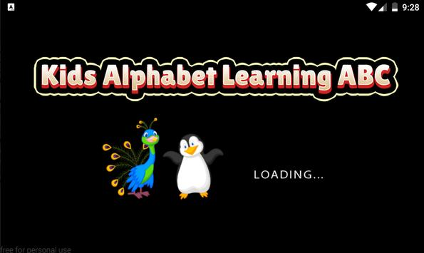 Kids Alphabet Learning ABC poster
