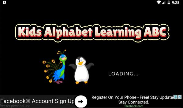 Kids Alphabet Learning ABC screenshot 1