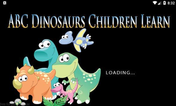 ABC Dinosaurs Children Learn poster