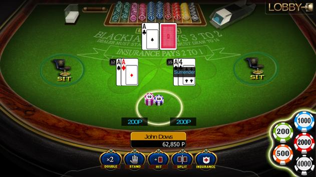Blackjack three Hands Play apk screenshot