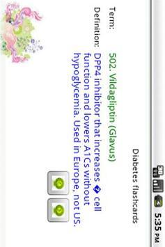 Diabetes flashcards apk screenshot