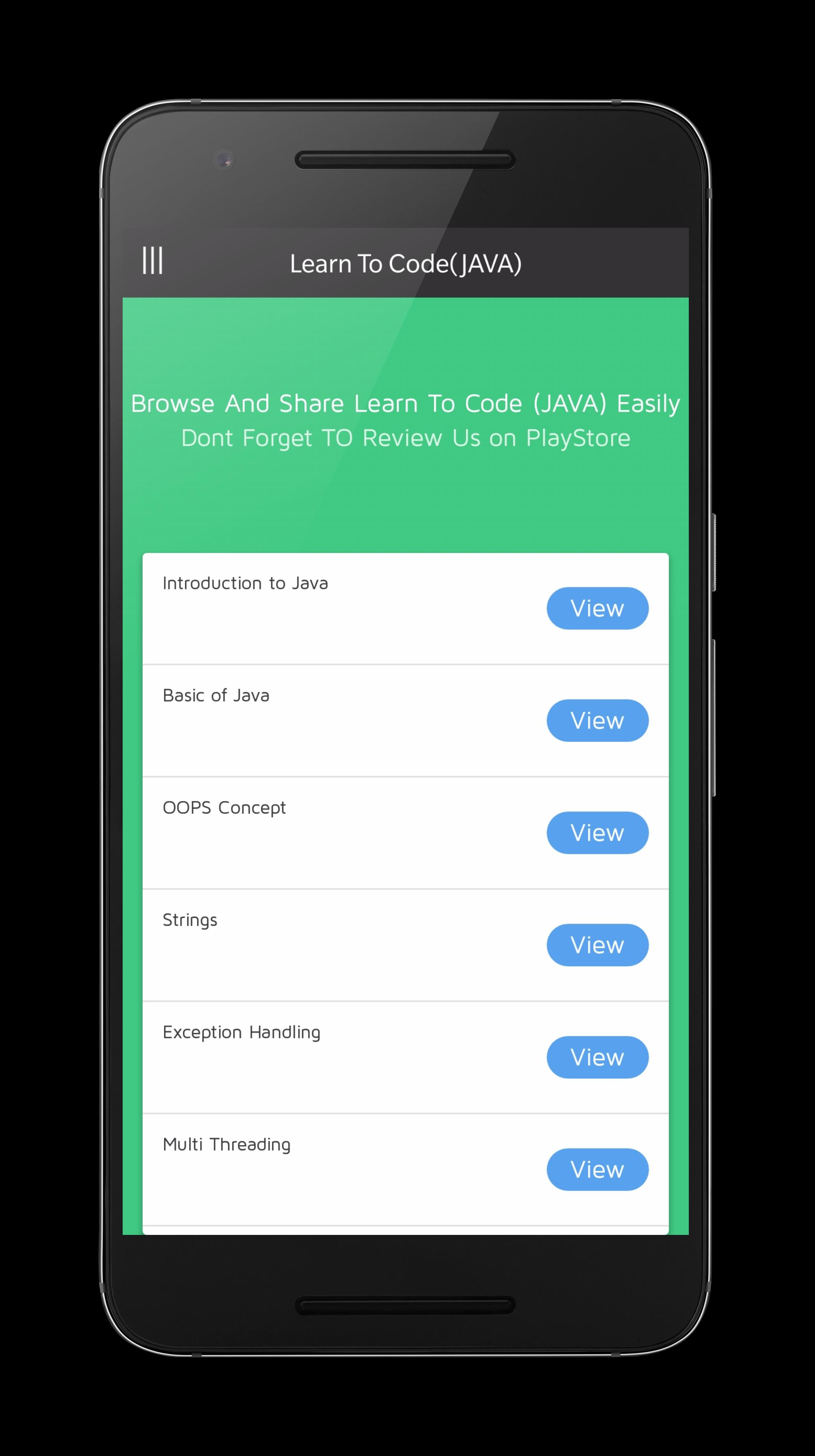Learn To Code (JAVA) for Android - APK Download