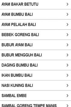 Aneka Resep Masakan Bali apk screenshot