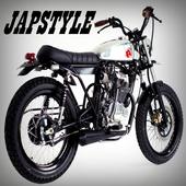 japstlyle motorbike custom icon