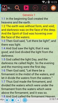 NKJV Audio Sync Verse Bible apk screenshot