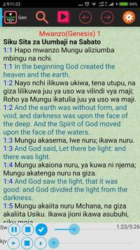 Swahili English Audio Bible poster