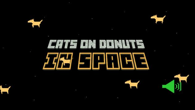 Cats On Donuts IN SPACE poster