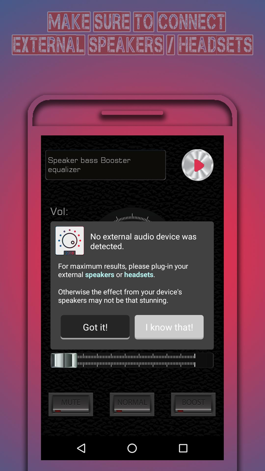 Volume Bass Booster FX - Music Subwoofer EQ Pro for Android