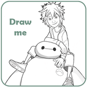 How to draw : Big Hero 6 icon