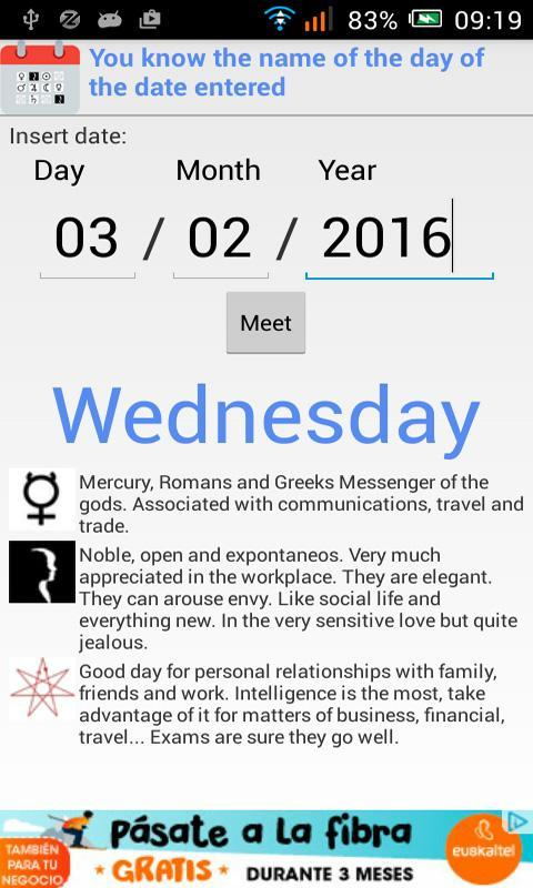 Dates, planets and signs    for Android - APK Download