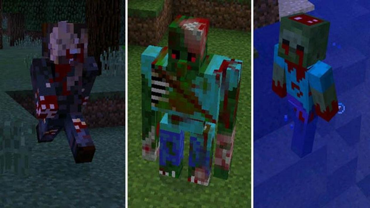 мод на новых зомби майнкрафт #3