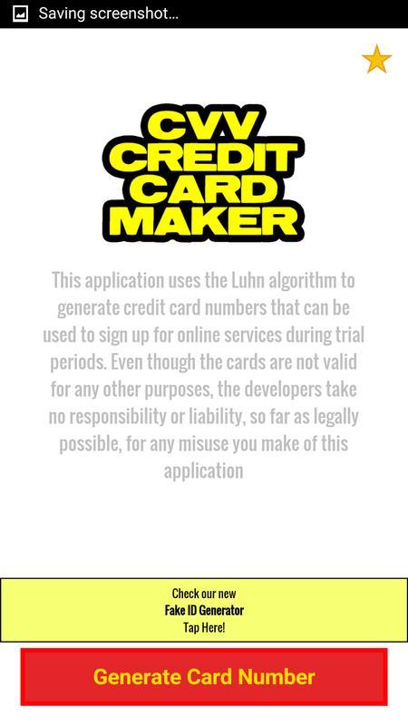 CVV Credit Card Generator poster CVV Credit Card Generator screenshot 1 ...