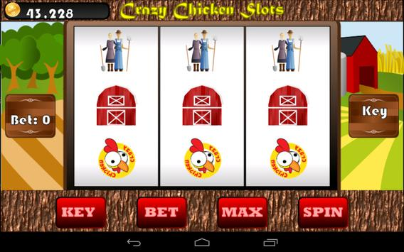 Crazy Chicken Slots poster