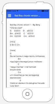 Lyric and Chord Korean Song Big Bang screenshot 2