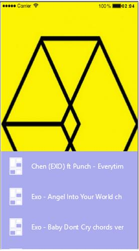 Lyric And Chord Korean Song Exo For Android Apk Download