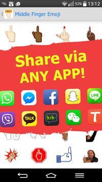 Middle Finger Emoji Free apk screenshot