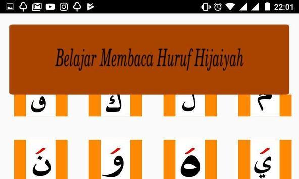 Belajar Membaca Huruf Hijaiyah poster