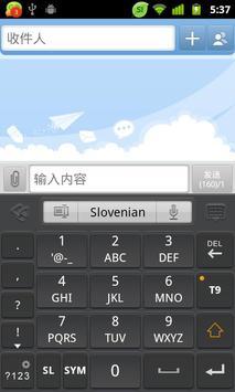 Slovenian for GO Keyboard apk screenshot