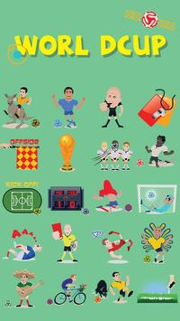 GO Keyboard World Cup Sticker poster