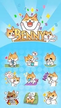 GO Keyboard Sticker Benny poster